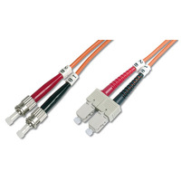 Digitus fiber optic kabel: 5m ST/SC - Oranje
