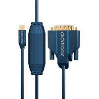 ClickTronic : Mini DisplayPort/DVI adapter cable, 2m - Blauw