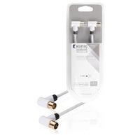 König coax kabel: KNS40020W20 - Wit
