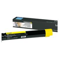 Lexmark cartridge: C950 tonercartridge geel met extra hoog rendement