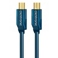ClickTronic coax kabel: 1m Antenna Cable - Blauw