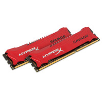 HyperX RAM-geheugen: HyperX Savage 8GB 1600MHz DDR3 Kit of 2 - Rood