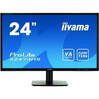 Iiyama monitor: ProLite X2474HS-B1 23,6'' Full HD VA - Desktop - Zwart