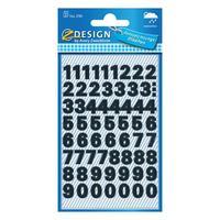 Avery etiket: Etiketten cijfers en letters 0-9. 2 blad