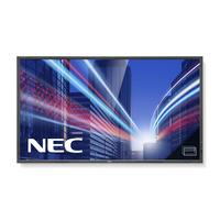 NEC public display: MultiSync P703 PG - Zwart