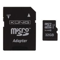 König flashgeheugen: 32GB MicroSDHC - Zwart