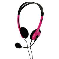 BasicXL headset: Draagbare stereo headset roze
