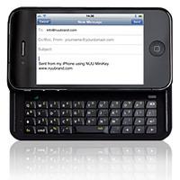 NUU MiniKey - QWERTZ mobile device keyboard - Zwart