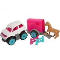 BIG : Power-Worker Mini Ponytransporter - Blauw, Bruin, Roze, Wit
