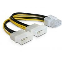 DeLOCK electriciteitssnoer: PCI Express power - Veelkleurig