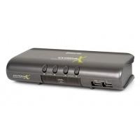 Iogear KVM switch: MiniView Extreme Multimedia KVMP Switch w/Cables - Grijs