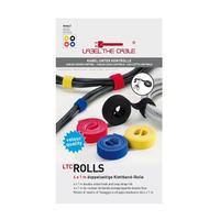 Label-the-cable kabelbinder: ROLLS - Zwart, Blauw, Rood, Geel