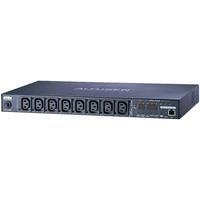 Aten energiedistributie: 8 Port Eco PDU 1-U . 8xC13 . 10 Ampere . PDU measurement - Zwart