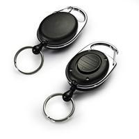 Durable sleutelketting: Badge Reel Style LED - Zwart