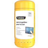 Fellowes reinigingskit: 100 Schermreinigingsdoekjes - Multi kleuren
