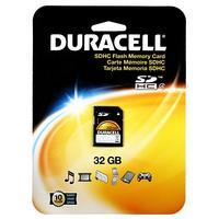 Duracell flashgeheugen: 32GB Secure Digital Card - Zwart