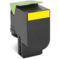 Lexmark toner: Toner Geel, 3000 pagina's, voor CX410de / CX410dte / CX410e / CX510de / CX510dhe / CX510dthe