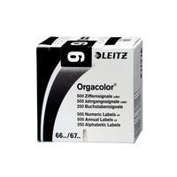 Leitz etiket: Orgacolor - Zwart