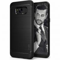 Ringke product: Zwart Onyx Case Samsung Galaxy S8 - Zwart / Black