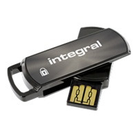 Integral USB flash drive: Secure 360, 8GB - Zwart