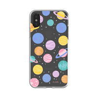 FLAVR mobile phone case: Happy Planets - Multi kleuren, Transparant