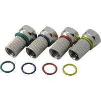 Schwaiger coaxconnector: FSTFR7004 531 - Zilver