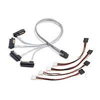 Adaptec SCSI kabel: mSASx4 (SFF-8087) to SAS(4)x1 (SFF-8482) Cable