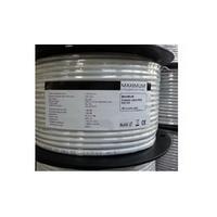 Maximum Coax cable RG6 1.02/4.57/6.6mm CU Tri-shield AL/128x0.12AL/AL coax kabel - Wit