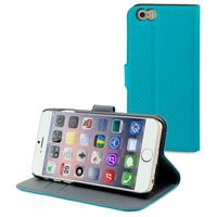 Muvit mobile phone case: Wallet Case with 2 Cardslots for Apple iPhone 6 - Turquoise/Sand - Turkoois