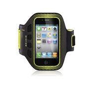 Belkin mobile phone case: EaseFit Sport - Zwart, Geel