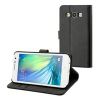 Muvit mobile phone case: Black slim folio s case samsung galaxy a3 - Zwart
