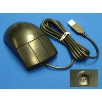 HP computermuis: USB 3-button mouse (Carbon Black) - Has 2.9m (10ft) cable with type (A) USB connector - Zwart