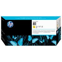 HP printkop: 81 gele DesignJet printkop en printkopreiniger voor kleurstofinkt - Geel