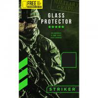 Striker product: Full Glue Ballistic Glass Screen Protector for Samsung Galaxy S9 Black