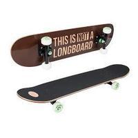 HUDORA skateboard complete: 12752 - Zwart, Bruin