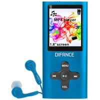 Difrnce MP1851 - MP4 Speler - 4 GB - Blauw MP3/MP4-spelers