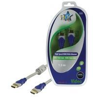HQ HDMI kabel: SV-400-1.5 - Blauw, Grijs