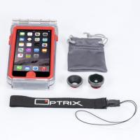 Optrix mobile phone case: Set voor iPhone 6 / 6S - Rood, Transparant