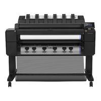HP grootformaat printer: Designjet T2500 36-in PostScript eMFP - Zwart, Cyaan, Grijs, Magenta, Mat Zwart, Foto zwart, .....