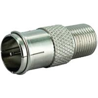Schwaiger coaxconnector: UEST9350 531 - Zilver
