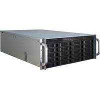 Inter-Tech behuizing: IPC 4U-4420 - Blauw, Roestvrijstaal