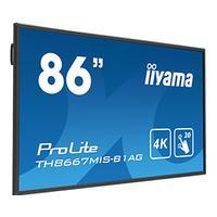 Iiyama public display: 86'' Interactive 4K LCD Touchscreen w / integrated annotation software & USB playback - Zwart