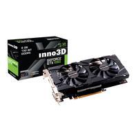 Inno3D videokaart: GEFORCE GTX 1060 6GB, PCI-E 3.0 X16, 2x Dual Link DVI-D, HDMI 2.0b, DisplayPort 1.4 - Zwart