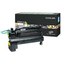 Lexmark cartridge: X792 20K gele retourprogramma printcartr. - Geel