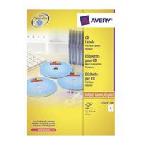Avery CD Etiketten, wit, Ø 117,0 mm (L7676-100)