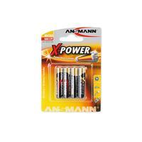 1x4 Ansmann Alkaline Micro AAA X-Power