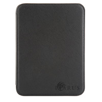 Icarus Zwarte PerfectFit beschermhoes voor Illumina E654BK e-reader (PU) E-book reader case