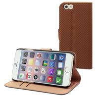 Muvit mobile phone case: Wallet Case with 2 Cardslots for Apple iPhone 6 - Brown/Sand - Bruin