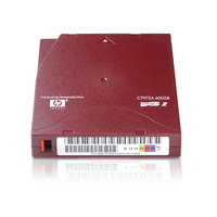 Hewlett Packard Enterprise datatape: LTO-2 Ultrium 400GB Data Cartridge - Rood
