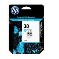 HP inktcartridge: 38 originele licht-cyaan inktcartridge - Lichtyaan